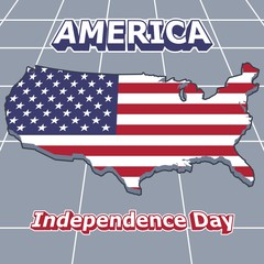 Vector image 4th July American Independence Day Poster Design template version one.