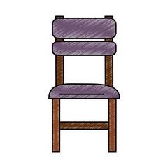 Restaurant wooden chair vector illustration graphic design