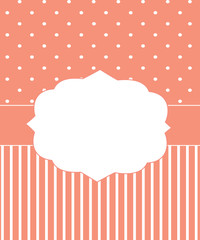 Invitation card template, vector