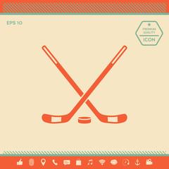 Hockey icon symbol