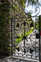 Beautiful Italian metallic black garden door