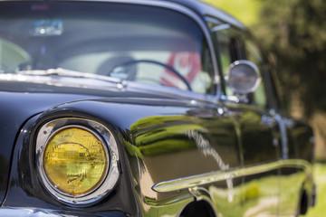 Black Classic Car,,Headlight