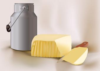 beurre - lait - produit laitier - protéine - alimentation - nourriture - santé - cholestérol - matière grasse
