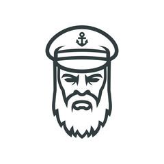 Captain of the ship. Sailor head logo