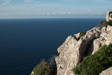 Cap de Formentor at sunset sky nature Landscape in northen Mallorca balearic islands, Spain.