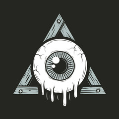 Cartoon all seeing eye