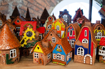 Cozy houses made of clay