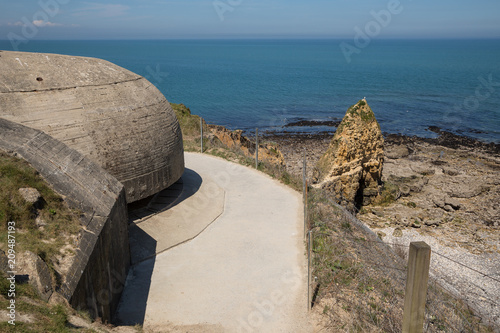 Pointe Du Hoc Beach As Seen From The German Bunkers Normandy France