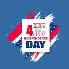 Dynamic design elements for independence day USA 4th july. Ñolorful modern background. Vector illustration.