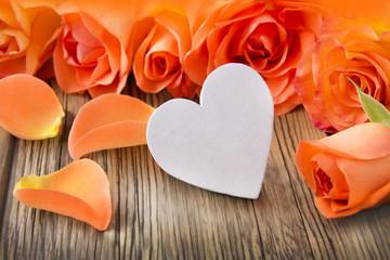 Dekoration  -   Herz und Rosen