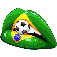 Brazil Flag Lipstick Soccer Supporters