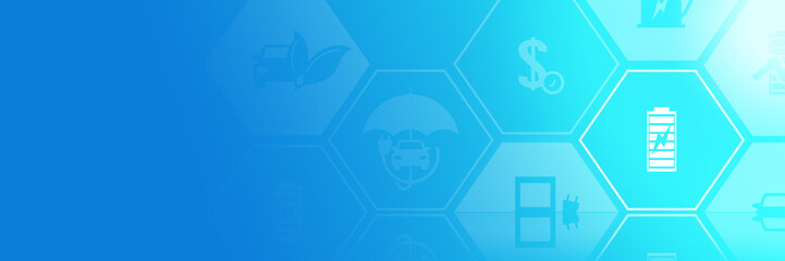Batterie Symbol - Technologie Elektroauto Symbol Flyer Template Hintergrund Vorlage