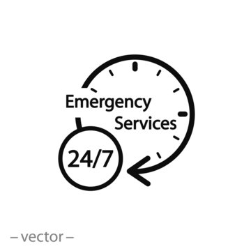 Emergency Services vector icon
