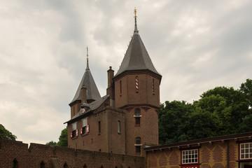 Entrance gate and castle wall surrounding the estate of De Haar Castle