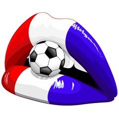 France Flag Lipstick Soccer Supporters