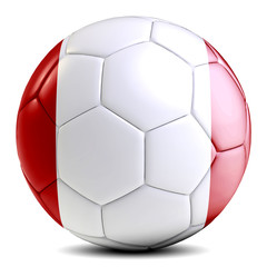 Peru soccer ball football futbol isolated