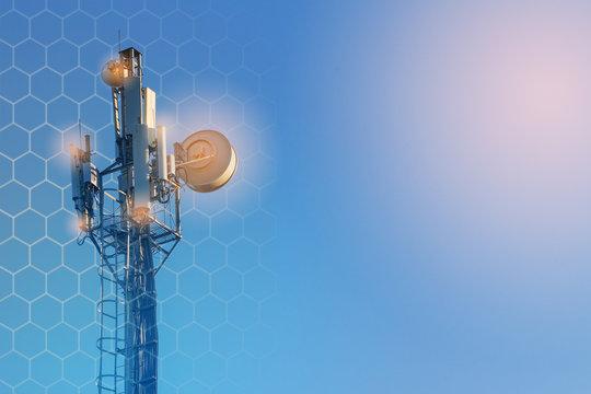 concept of wireless radio Internet. 5G mobile technologies.