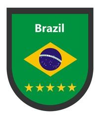 Wall Mural - Brazil - Football