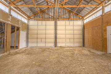 Double doors on large old barn in Utah