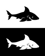 Vector shark silhouette