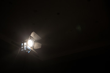 Studio spotlight using for background production film . silhouette object for make cinema .