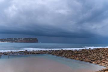 Sea Pool Seascape and Shelf Cloud
