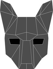wolf mask on a white background, flat lcon eps 10 vector illustration