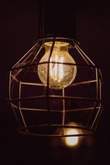 Old light bulb vintage background.