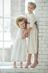 Children in retro style