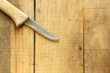 Messer Holzmesser Hintergrund Brett Bretter Holzbretter Holzgriff