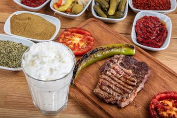 Beef steak grill