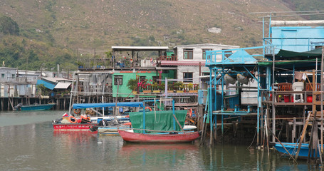 Hong Kong old fishing village