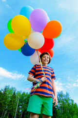 many colorful balloons