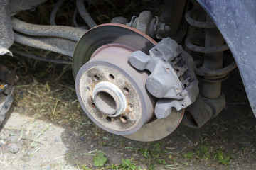 Repair of the brake system of an old car