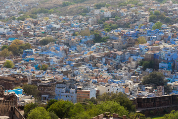 Jodhpur, the Blue City of Rajasthan in India, Asia