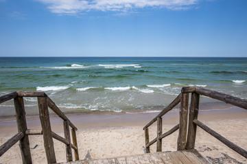 Baltic Sea beach in Jastrzebia Gora. Summer time in north Poland