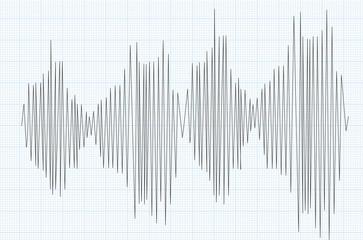 Line graph. vector illustration