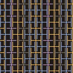 Striped seamless geometric pattern. Digital background.