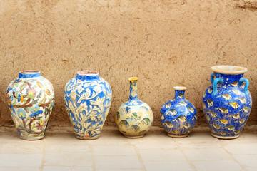Iranian clay vases in Yazd. Iran