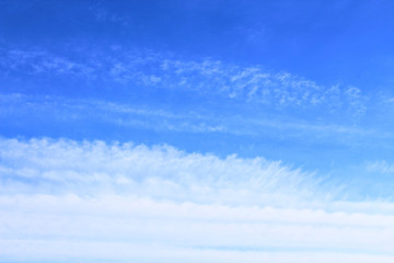 Beautiful blue sky with white clouds. Background. Landscape. panorama.
