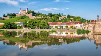 Festung Marienberg in Würzburg am Main Fototapete