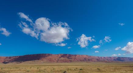 Blue sky over mountain