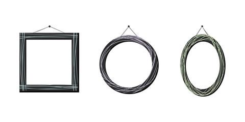 Set of artistic frames