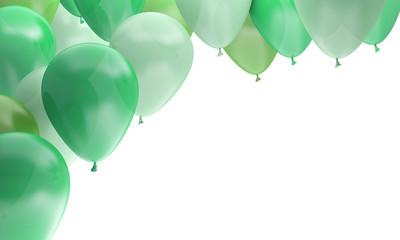 ballons fête anniversaire célébration verts