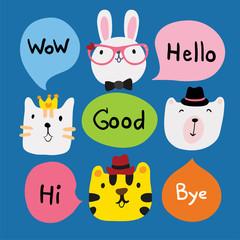 animals speech character design
