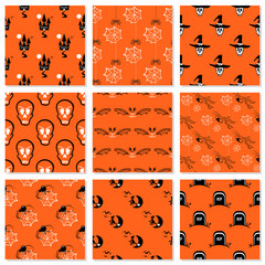 Halloween Collection Seamless Patterns