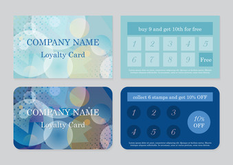 Set of two loyalty card templates