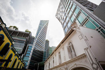 Architecture on Orchard road Singapore