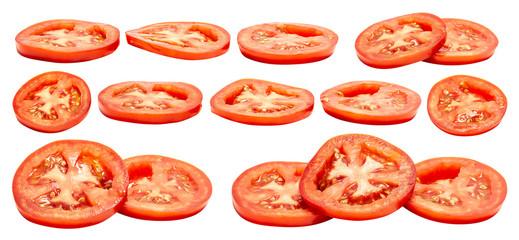 Fototapeta Tomato slice isolated obraz