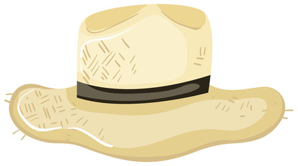 A Farmer Hat on White Background